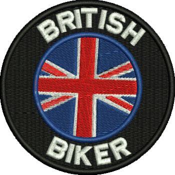 British Bikers Embroidered Badge